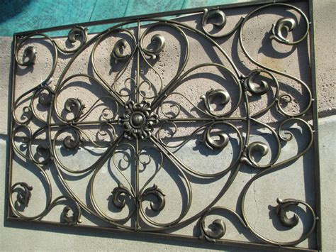 decorative wrought iron wall panel grill grate window - Wrought Iron Decorative Wall Panels