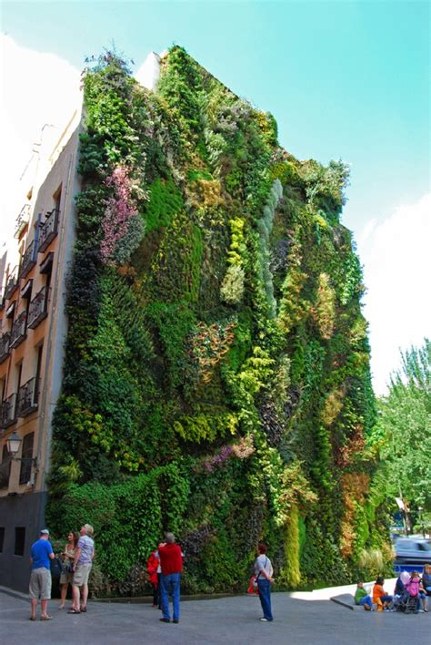 Vertical Gardens Blanc Vertical Garden By Blanc In Madrid Spain Tales