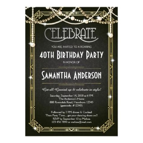 the 25 best ideas about great gatsby invitation on