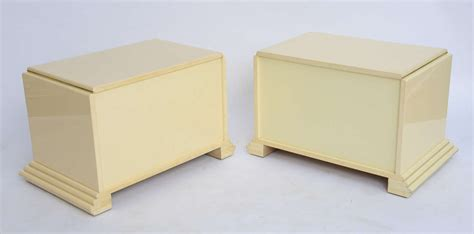 cream lacquer bedroom furniture pair of rougier streamline moderne style cream lacquer