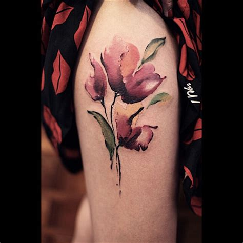 watercolor tattoos of flowers poppy flower watercolor best ideas gallery