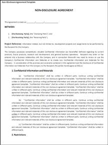 Non Disclosure Confidentiality Agreement Template by Agreement Templates Templates Part 2