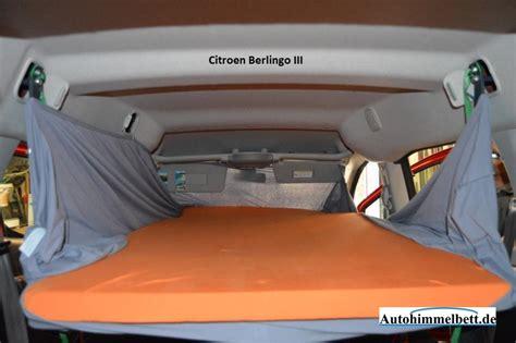 schlafen im auto schlafen im citroen berlingo ii bj seit 2008 bequem