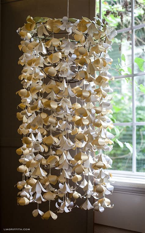 How To Make A Paper Chandelier - diy paper flower chandelier