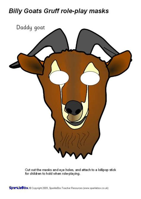 printable masks three billy goats gruff billy goats gruff role play masks sb2276 sparklebox