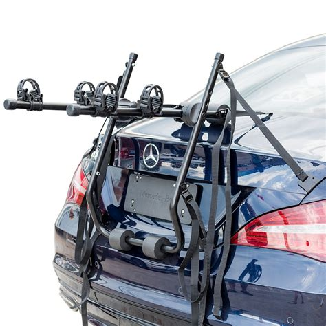 Car Back Rack by 2 Bikes Car Rear Mounted Trunk Rack Vehicle Bicycle
