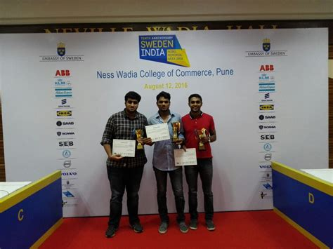 In Sweden For Indian Mba by Student From Sibm Pune Secured The Second Runners Up