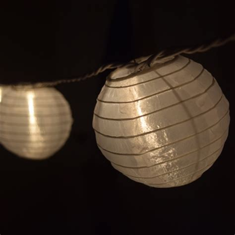 4 quot white nylon party string lights from paperlanternstore