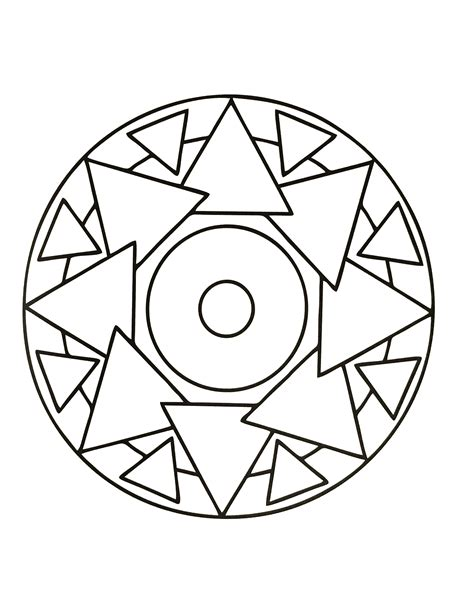 simple mandalas to print and color simple mandala 65 mandalas coloring pages for kids to