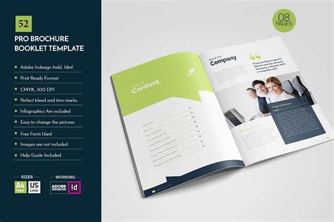 Professional Brochure Template V52 Brochure Templates Creative Market Booklet Template