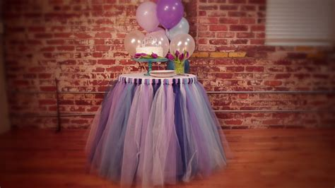 how to do a tutu table skirt no sew tulle tutu table skirt handmade diy