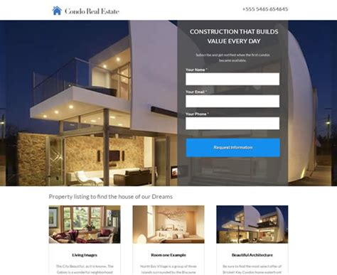 real estate templates for pages 21 best landing page unbounce templates webdesignboom