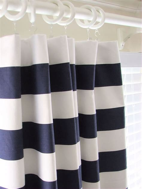 blue white striped curtains casual bathroom design with horizontal indigo blue white