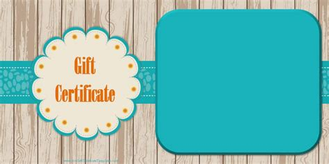 gift card birthday template printable gift certificate templates