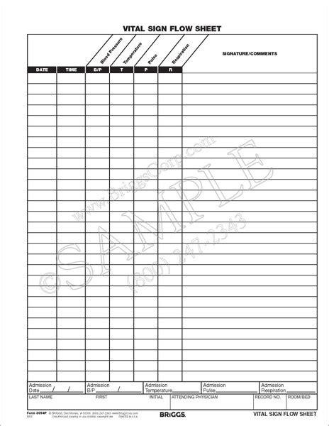 Nursing Flow Sheet Template Pdf by Vital Sign Flow Sheet Form Month