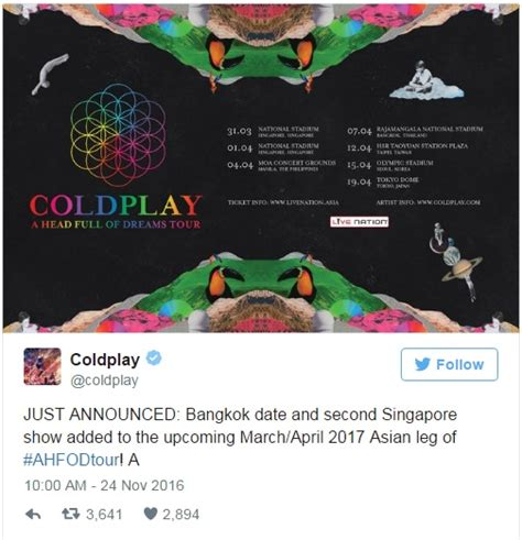 Macbook Air Di Singapura sambutan hangat coldplay tambah show di singapura cats fm