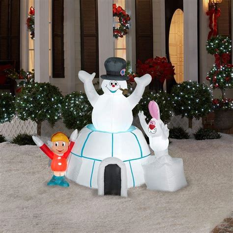 frosty the snowman christmas decorations snowman outdoor inflatables wikii