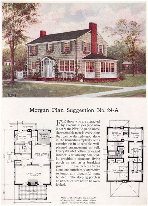 Classic Colonial Home Plans by 1923 Classic Colonial Revival Traditional House