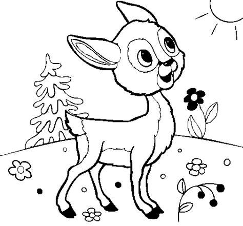 imagenes para colorear venado dibujo de cervatillo para colorear dibujos net