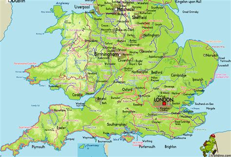 printable road map of southern england map of south of england