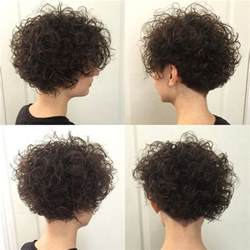 stacked hair with perm permed stacked bob haircut photos