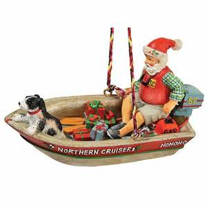 home motors santa santa retro motor boat ornament gift shop