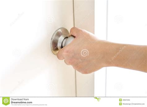 How To Open A Door Knob by Opening Door Knob White Door Stock Photo Image