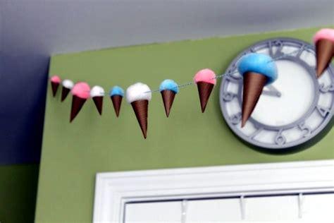 sommerdeko    idea  colorful paper ice