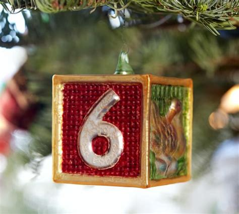 twelve days of christmas ornament set pottery barn