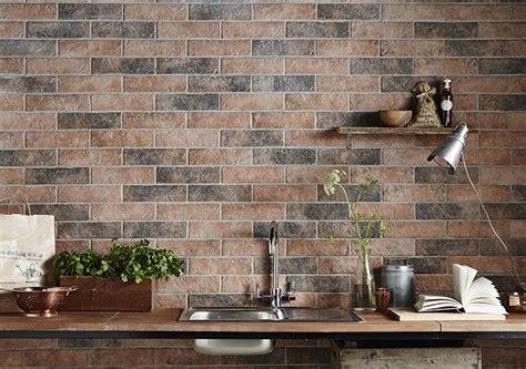 brick effect kitchen wall tiles brick tiles exposed brick without the mess tile mountain
