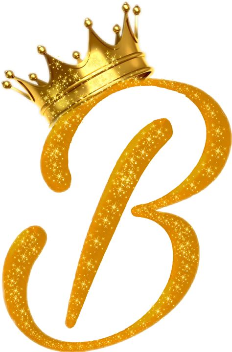 Letter With Crown letters letter b gold crown royal
