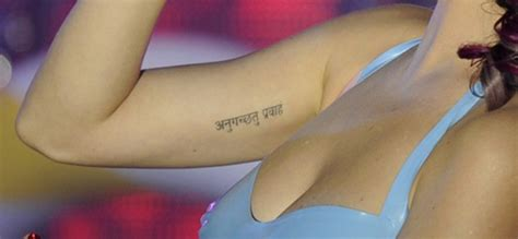 tattoo katy perry sanskrit time for katy perry to go with the flow south asia daily
