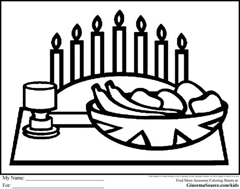 kwanzaa coloring pages meal stuff pinterest