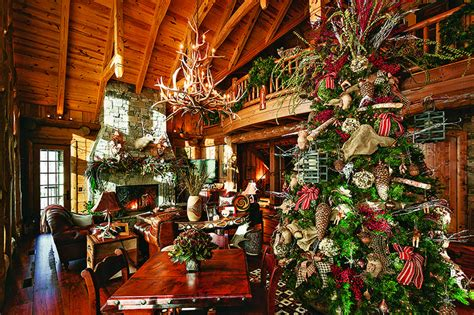 christmas decorating ideas for log homes festive log homes get into the spirit