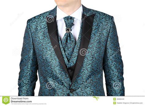 blue pattern men s suit men s wedding suit with floral patterned stock image