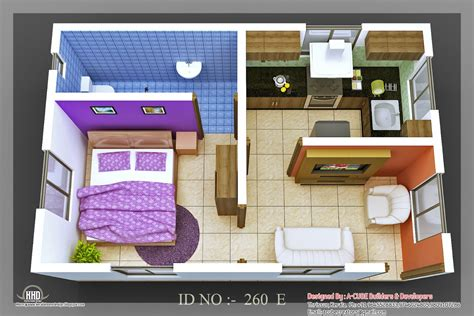 make house 3d isometric views of small house plans kerala home
