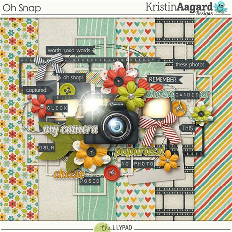Oh Snap By Jibrizy Tutorial digital scrapbook kit oh snap kristin aagard