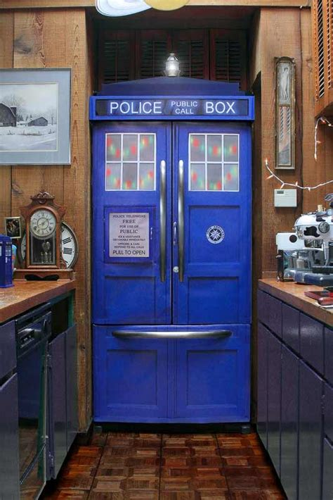 tardis bookcase for sale police box fridge kit turns any refrigerator into a tardis