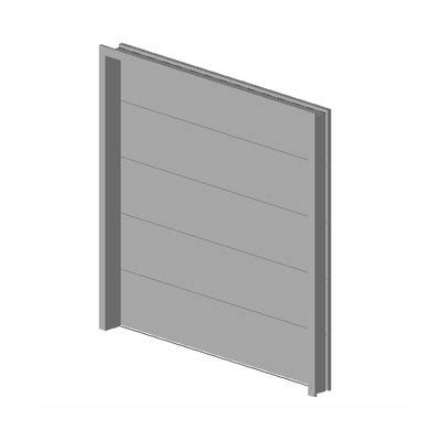 Overhead Sectional Garage Door 3D Model FormFonts 3D Models & Textures