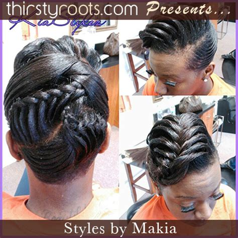 fishtail french braid photos on blacks fishtail braid hairstyles for black hair fishtail updo