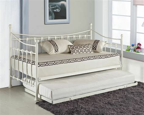 With Trundle Bed by Elenor Metal Guest Day Bed With Free Pull Out Trundle