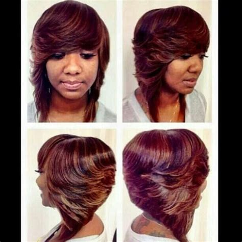feathered colored bobs top 9 ideas about sew in bond in on pinterest human hair
