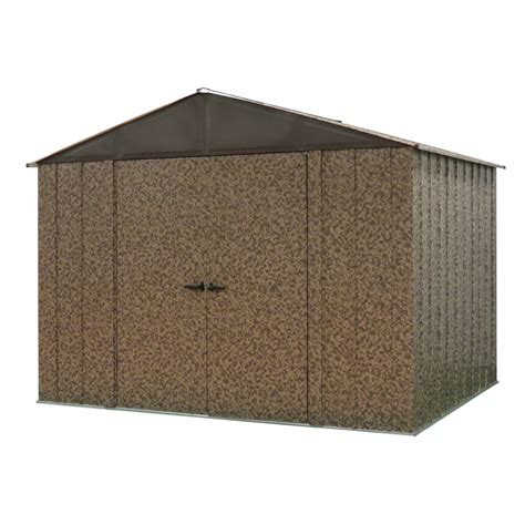 Metal Sheds Lowes by Shop Arrow Camo Galvanized Steel Storage Shed Common 10