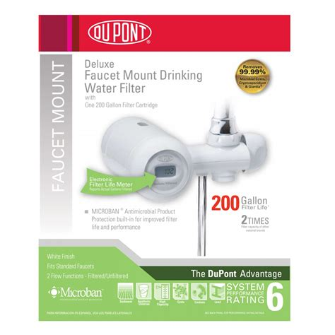 Dupont Faucet Mount Water Filter Reviews by Dupont Wffm350xw Deluxe Faucet Mount Water Filter