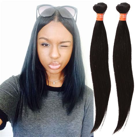 10 inch hair weave styles black brazilian human hair extension 3bundles straight 10