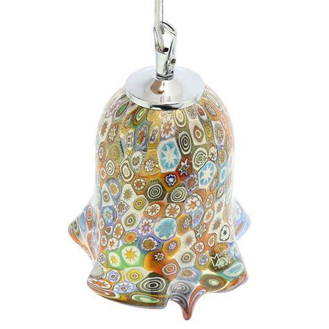 Murano Glass Pendant Lights Murano Glass Lighting Murano Glass Fazzoletto Pendant Light Millefiori