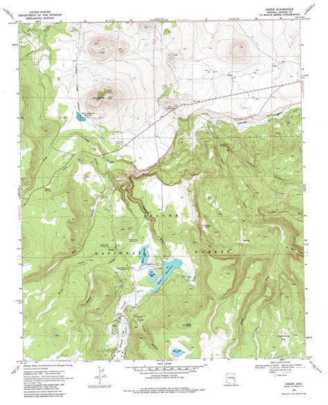 arizona topographical map greer topographic map az usgs topo 34109a4