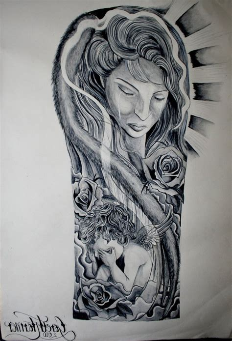 religious half sleeve tattoos religious half sleeve drawings ink design