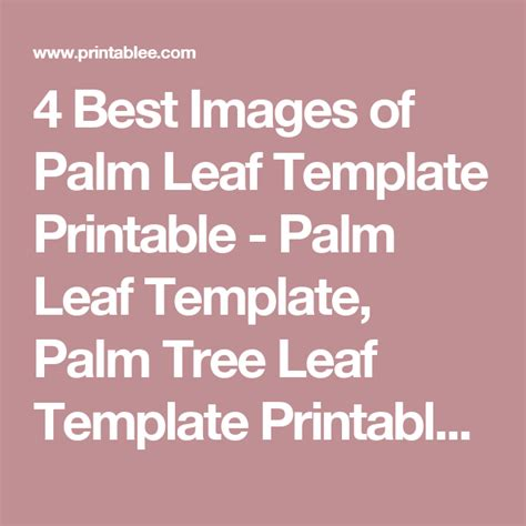 leaf pattern quotes 4 best images of palm leaf template printable palm leaf
