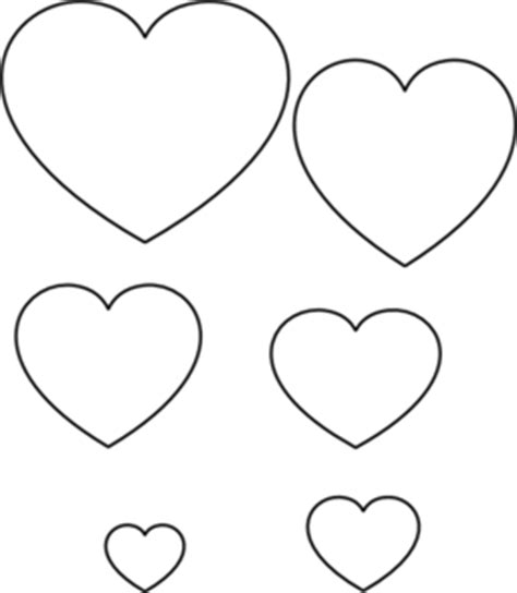 printable stencils of hearts heart stencils free clipart best